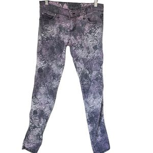 TRIPP NYC Jeans Snakeskin Low Rise Violet Gray 3